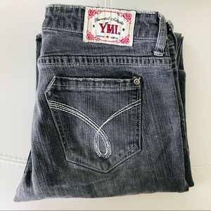 YMI Gray Low Rise Boot Cut Jeans Size 9